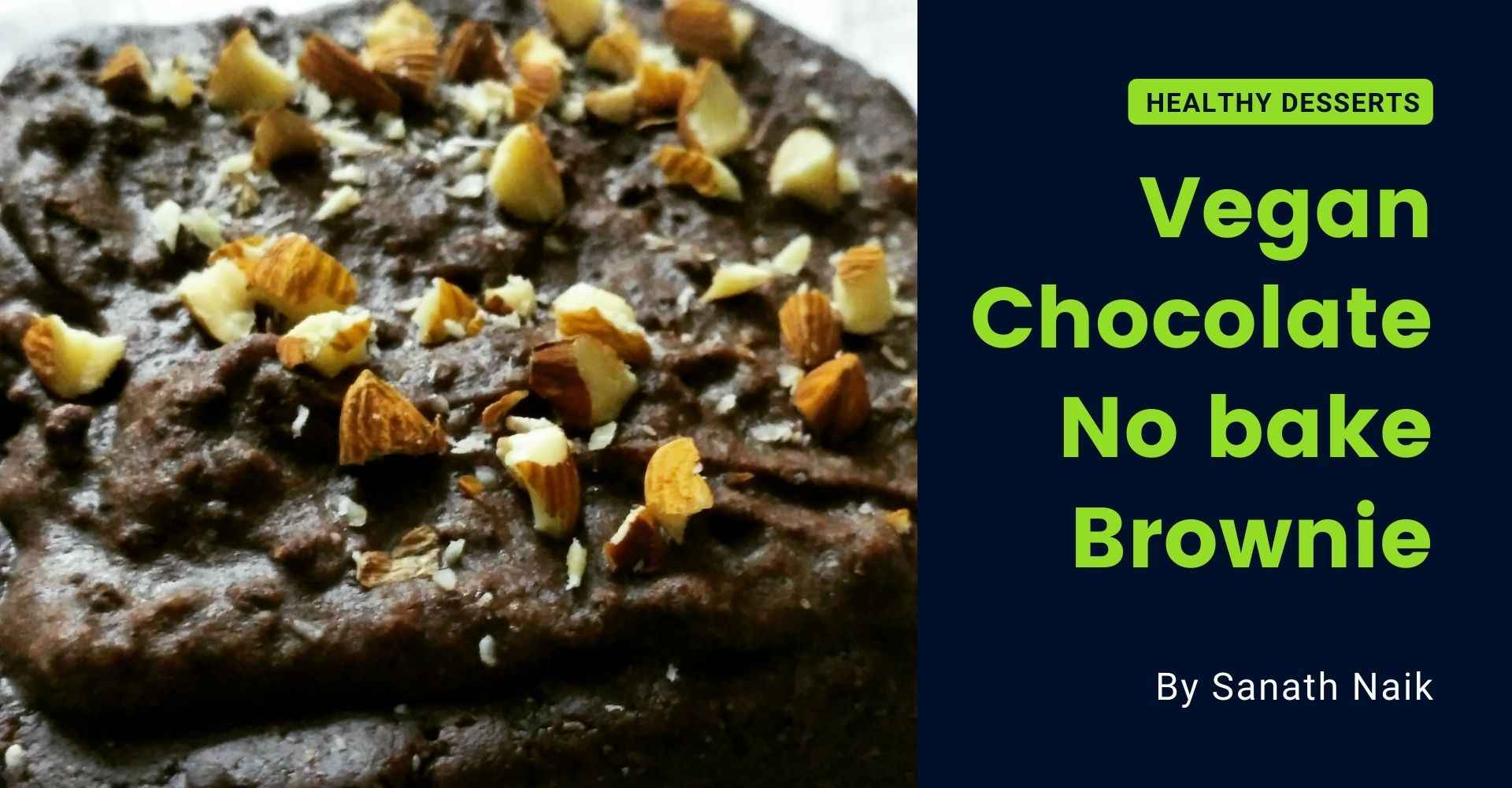 vegan chocolate no bake brownie